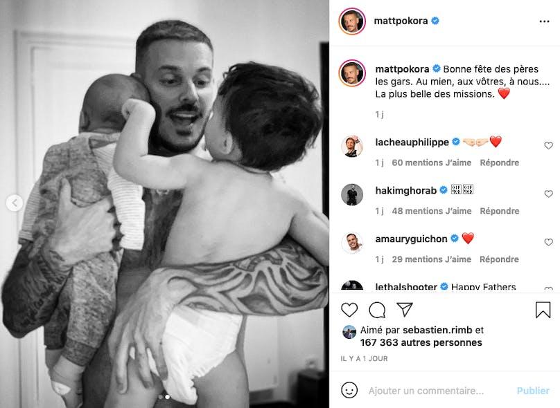 Matt Pokora : papa très occupé
