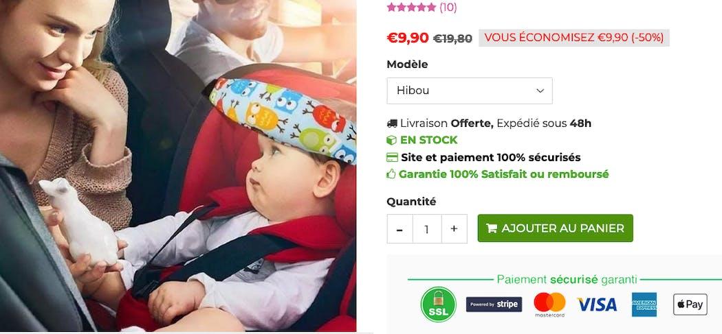 Le cale-tête pour siège-auto (les parents savent...)