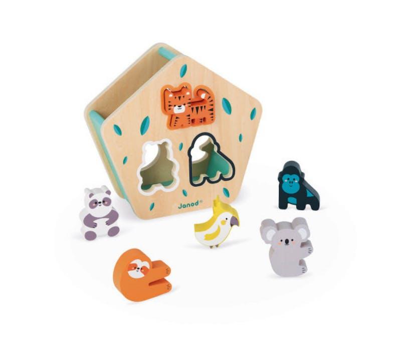 Boîte à formes animaux