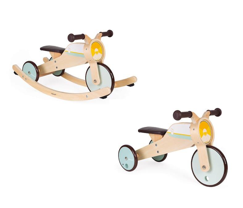 Le tricycle à bascule en bois