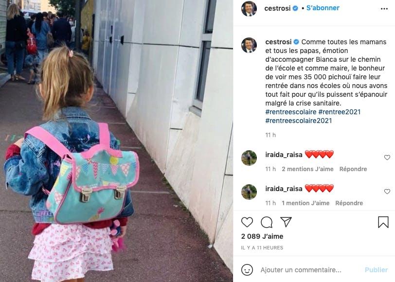 Christian Estrosi : Bianca sur le chemin de l'école