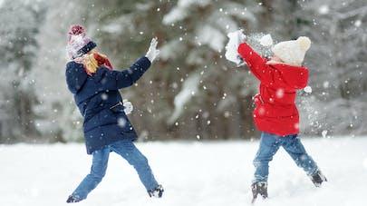 enfants et neige