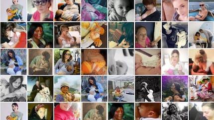 Des photos pour soutenir Maylis, giflée pour avoir allaité son bébé en public