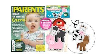 Important : les stickers de bain Cheval et Vache, offerts avec Parents de mai, sont potentiellement dangereux pour votre enfant