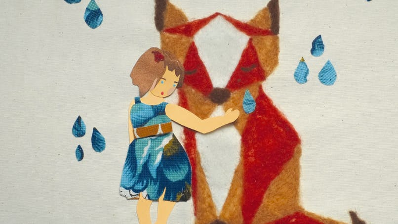 petite fille et un renard