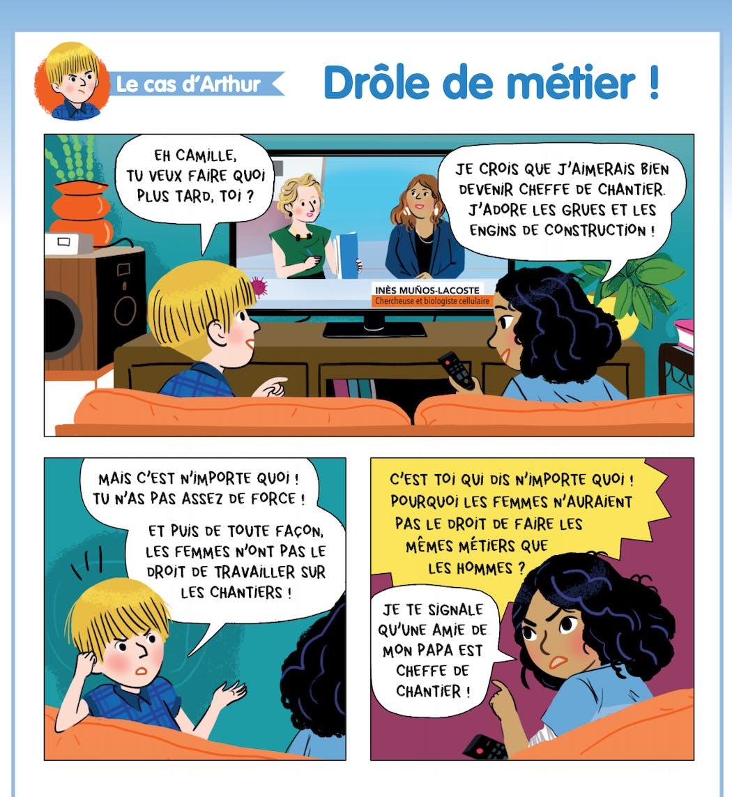 Une bande-dessinée pour comprendre les inégalités filles - garçons