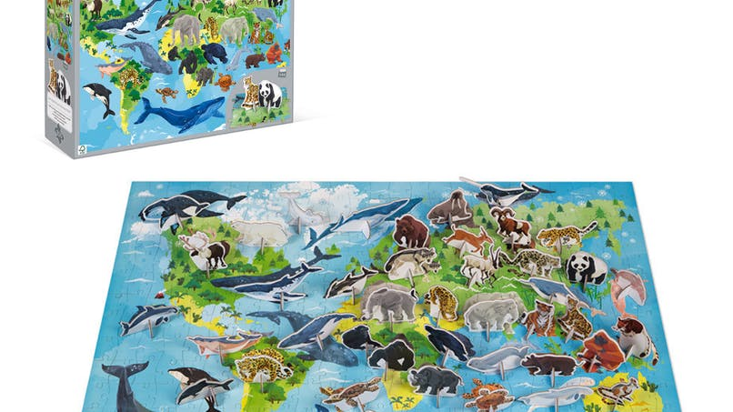 """Dès 7 ans - Puzzle éducatif """"espèces prioritaires"""""""