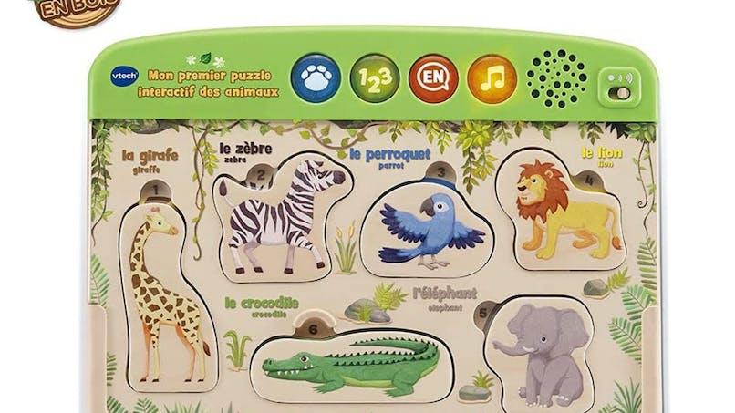 Dès 18 mois - Mon premier puzzle interactif des animaux