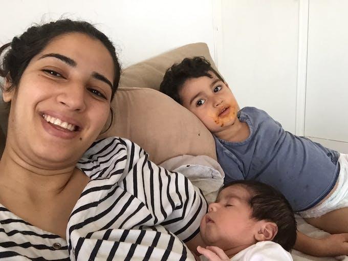 mère avec enfants