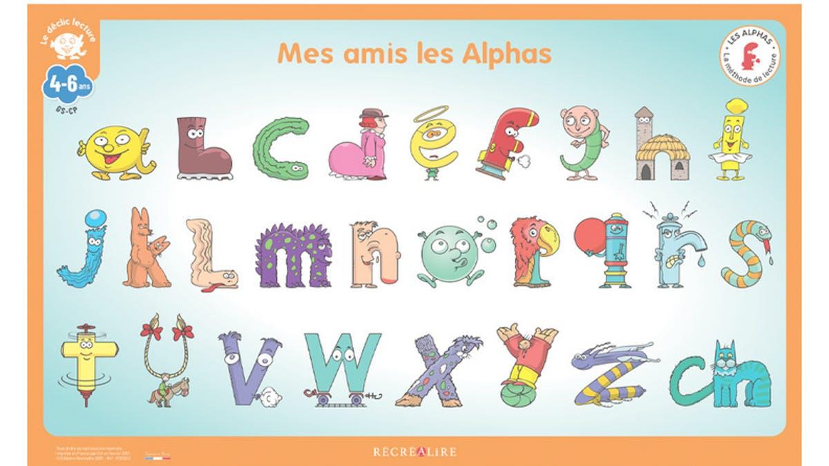 Poster Récréalire méthode de lecture Les Alphas