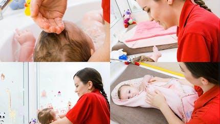 Le bain du bébé