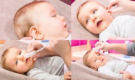 La toilette du visage de bébé