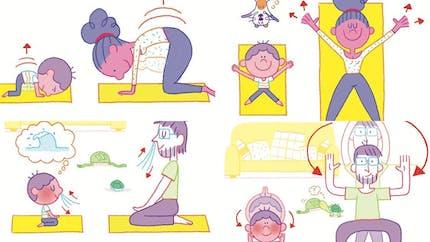 Yoga en famille : 4 exercices pour aider les enfants à mieux gérer leurs émotions