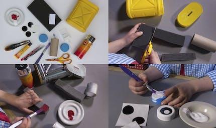 Les mini ateliers de Tiji : La tirelire robot