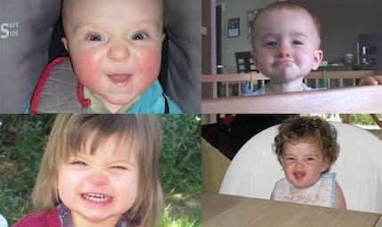 Quand les bébés font la grimace