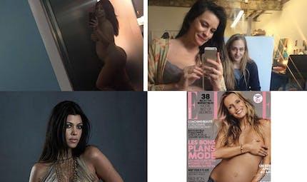 Quand les stars enceintes posent nues
