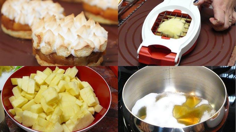 Pommes caramélisées au beurre demi-sel, façon tarte meringuée