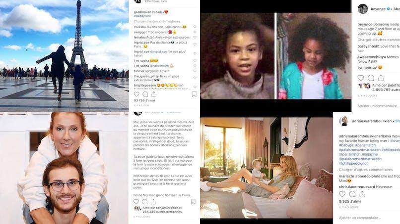 Gad Elmaleh, Adriana Karembeu, Amélie Mauresmo... le diapo des people en famille