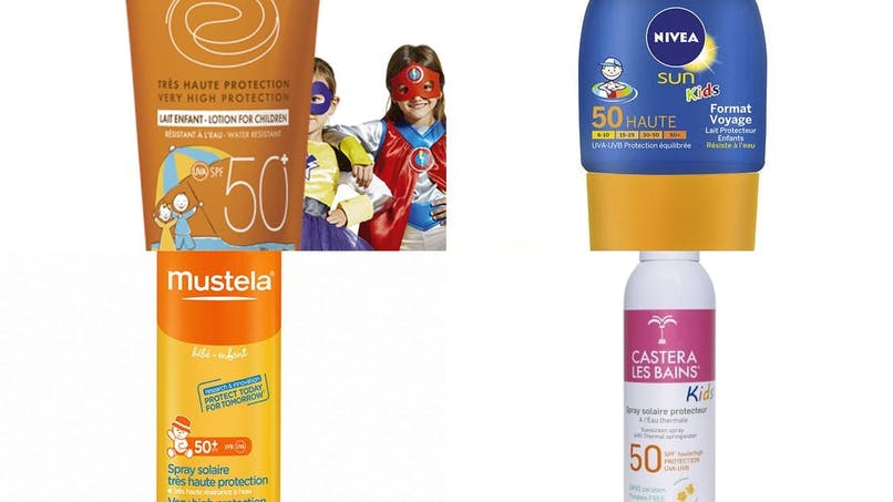 Les crèmes solaires pour enfants