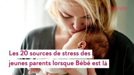 Les 20 sources principales de stress quand on devient parents